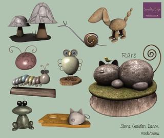 Serenity Style- Stone Garden Decor | by Oωηєя σƒ Sєяєηιту Sтуℓє