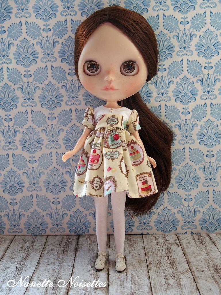 Nanette Noisettes Paris Pastry Passion Dress for Blythe Do