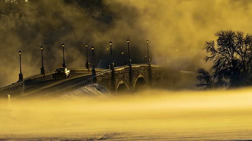 sunrise snow berkley bridge massachusetts andrew lincoln photographer