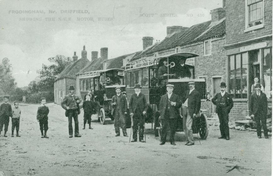 N E R Motor Omnibus Service Beeford 1904 (archive ref PO-00002)