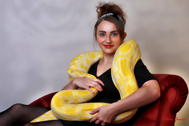 Model with Snake