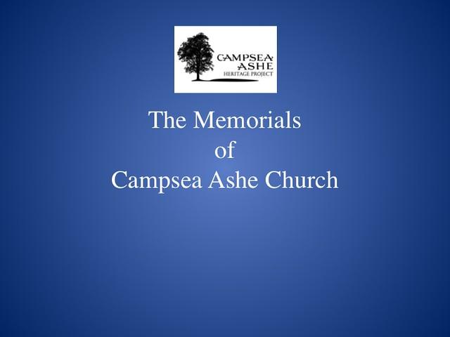 Church memorials