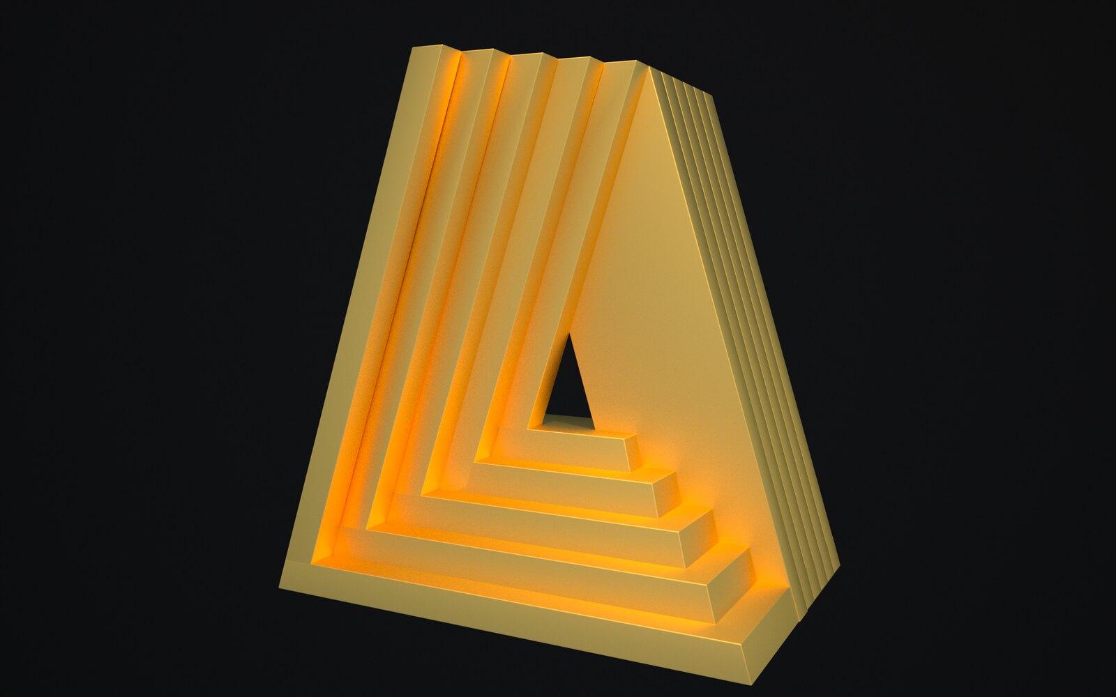 Perceptualizaciones del Estudio de Arqué Poética y Visualística Prospectiva para Takenobu Igarashi letra A (fractalidad)