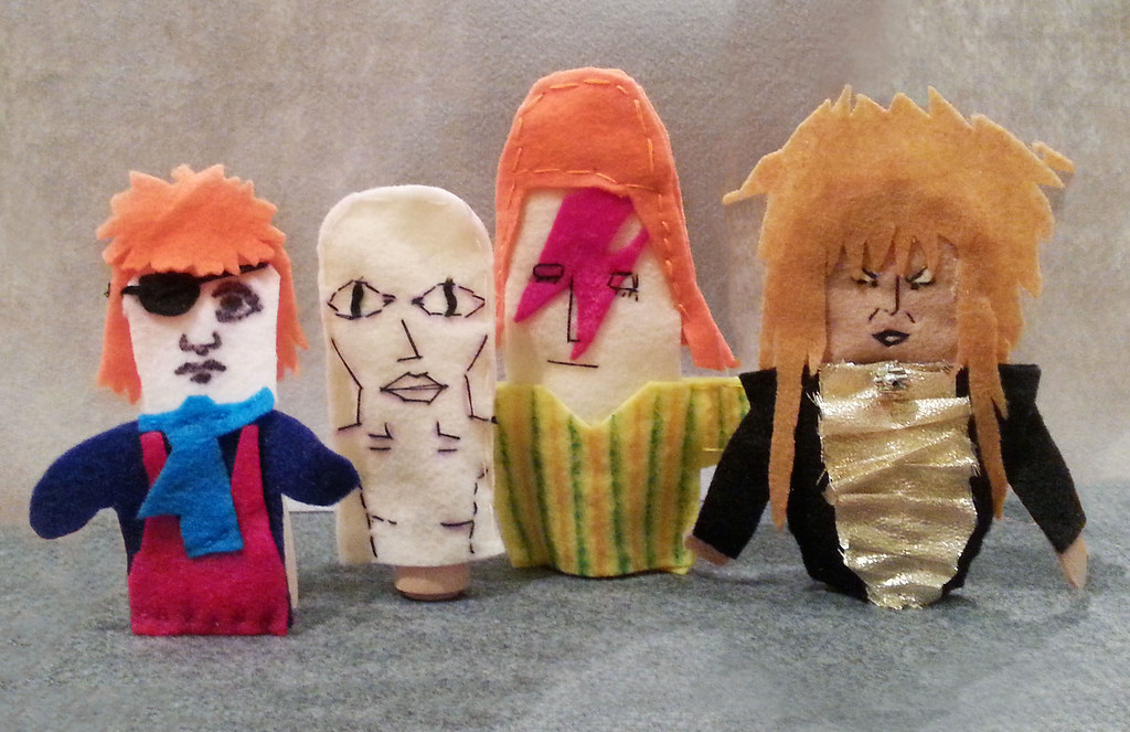 Puppet David Bowies from the Puppet-Making Workshop at Har… | Flickr