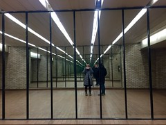 Walking to the metro through the hallways of Westmount square