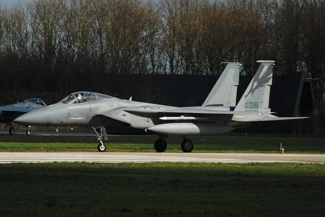 F-15C Eagle 80-0018 194FS/144FW California Air-National-Guard(ANG) USAF. Leeuwarden Air-Base, Netherlands. 08-04-2016.