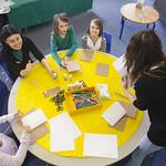 Eilidh Muldoon leads a creative workshop for kids   © Robin Mair