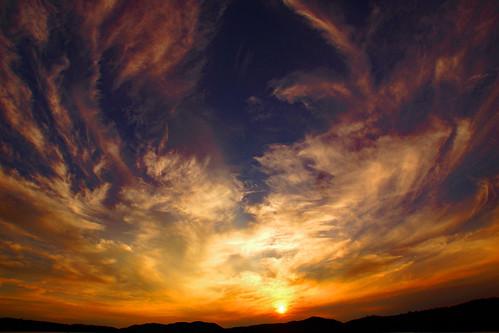 sun fourthlake clouds inletny sunset hamiltoncounty centraladirondacks