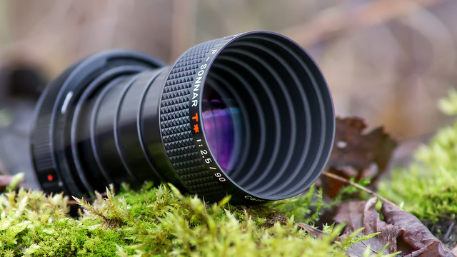 Carl Zeiss P-Sonnar 90mm ƒ/2.5 T✮ projection lens (converted to CANON FD/SONY E-mount)