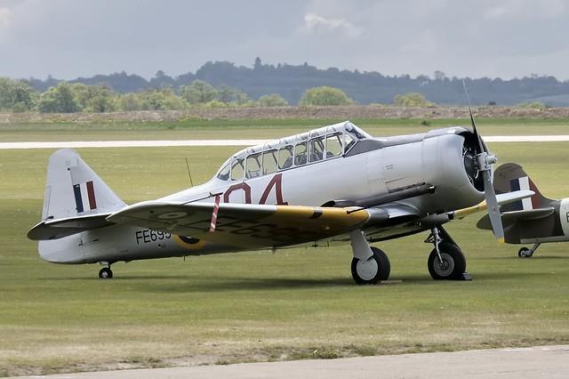 Noorduyn Harvard Mk.IIb WWII trainer, The Fighter Collection, Duxford Aerodrome, England.