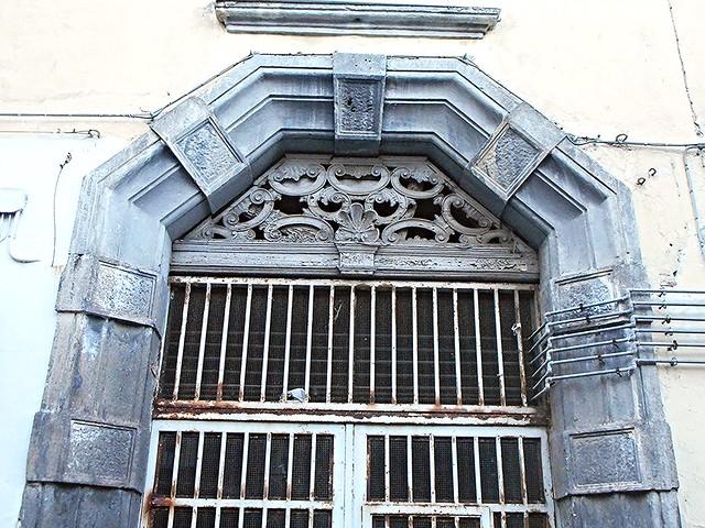 Baroque portal 18th century in Naples