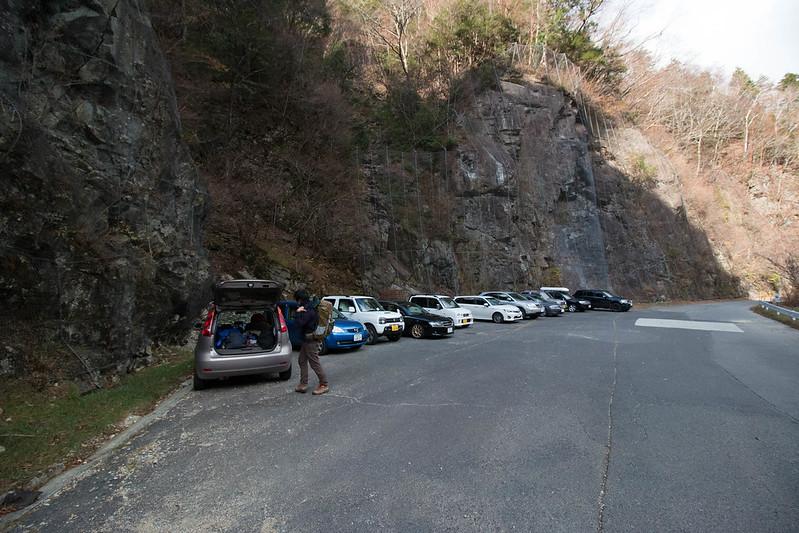 八経ヶ岳の駐車場