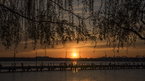 sunset red virginia harbor maryland national