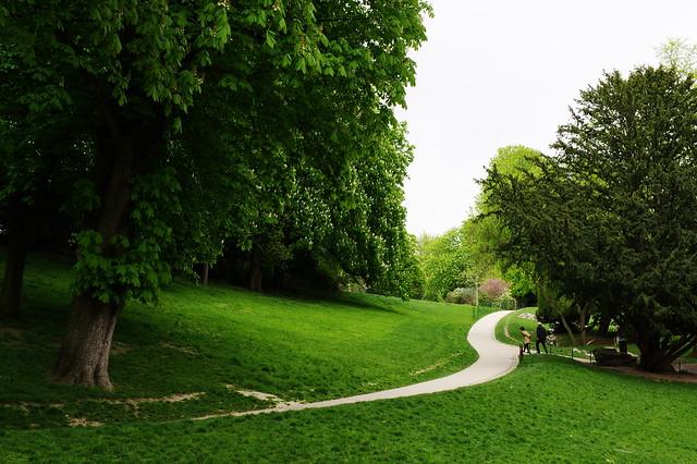 False Spring Park. Paris, Buttes Chaumont, April 2016