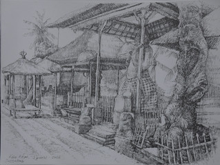 Ngakan Agus Artha Wijaya , Kebo Edan, 30 x 40 Pencil On Paper 2016