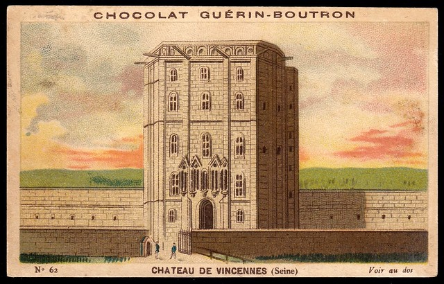 French Tradecard - Chateau de Vincennes