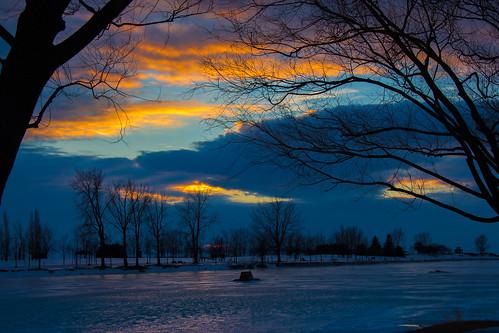 trees winter sky ice clouds canon landscape eos rebel canal montréal hiver ciel arbres nuages lachine paysage glace canallachine t4i