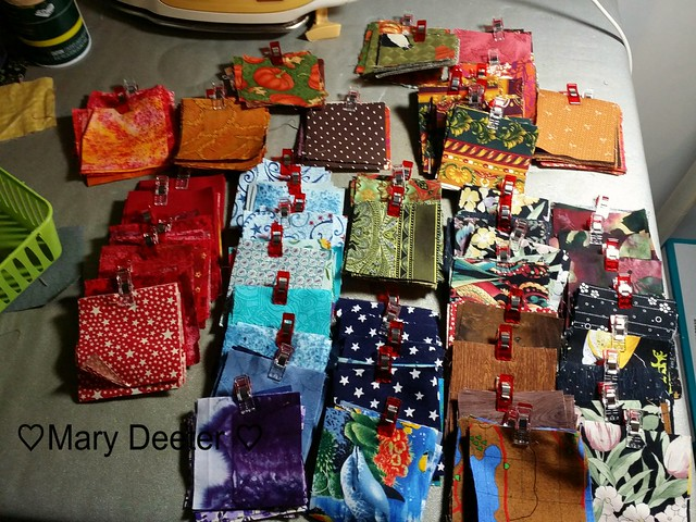 """600 - 3"""" Squares from the Scrap basket . Need Another 115."""