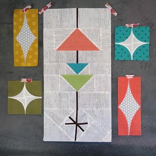 Mid-century modern quilt blocks