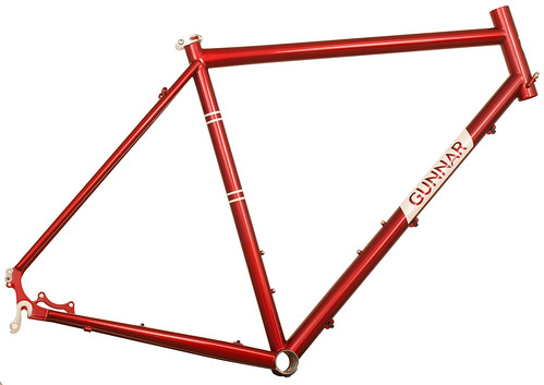 <p>Gunnar Fastlane in Candy Red, a terrific broad spectrum design with chainstay mount disc brakes, solid construction and a comfort fit for commuters, light and medeum tourers, gravel and cyclocross as well as off-season road riding.</p>