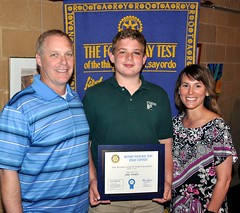 3rd. place winner Jake Pendry is with his very proud parents Daryl & Carolyn.