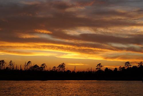 sunset sky clouds creek nc twilight outdoor dusk sony northcarolina serene fairfieldharbour northwestcreek cloudsstormssunsetssunrises sonya58