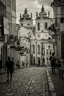 Colonial architecture and cobblestone streets of historic Pelourinho - Salvador | by Phil Marion (176 million views - THANKS)