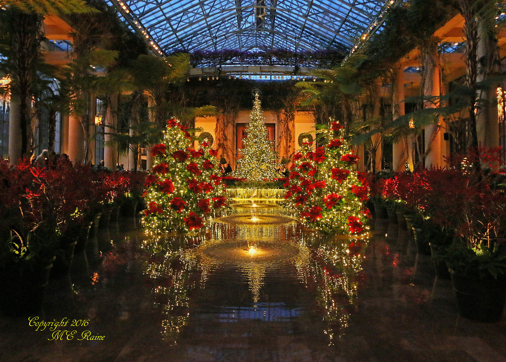 Longwood Gardens Christmas.2015 Longwood Christmas Conservatory Exhibition Hall Cent