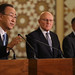 World Bank Group President Jim Yong Kim holds a press conference with Prime Minister of Lebanon, Tammam Saeb Salam and United Nations Secretary-General, Ban Ki-moon