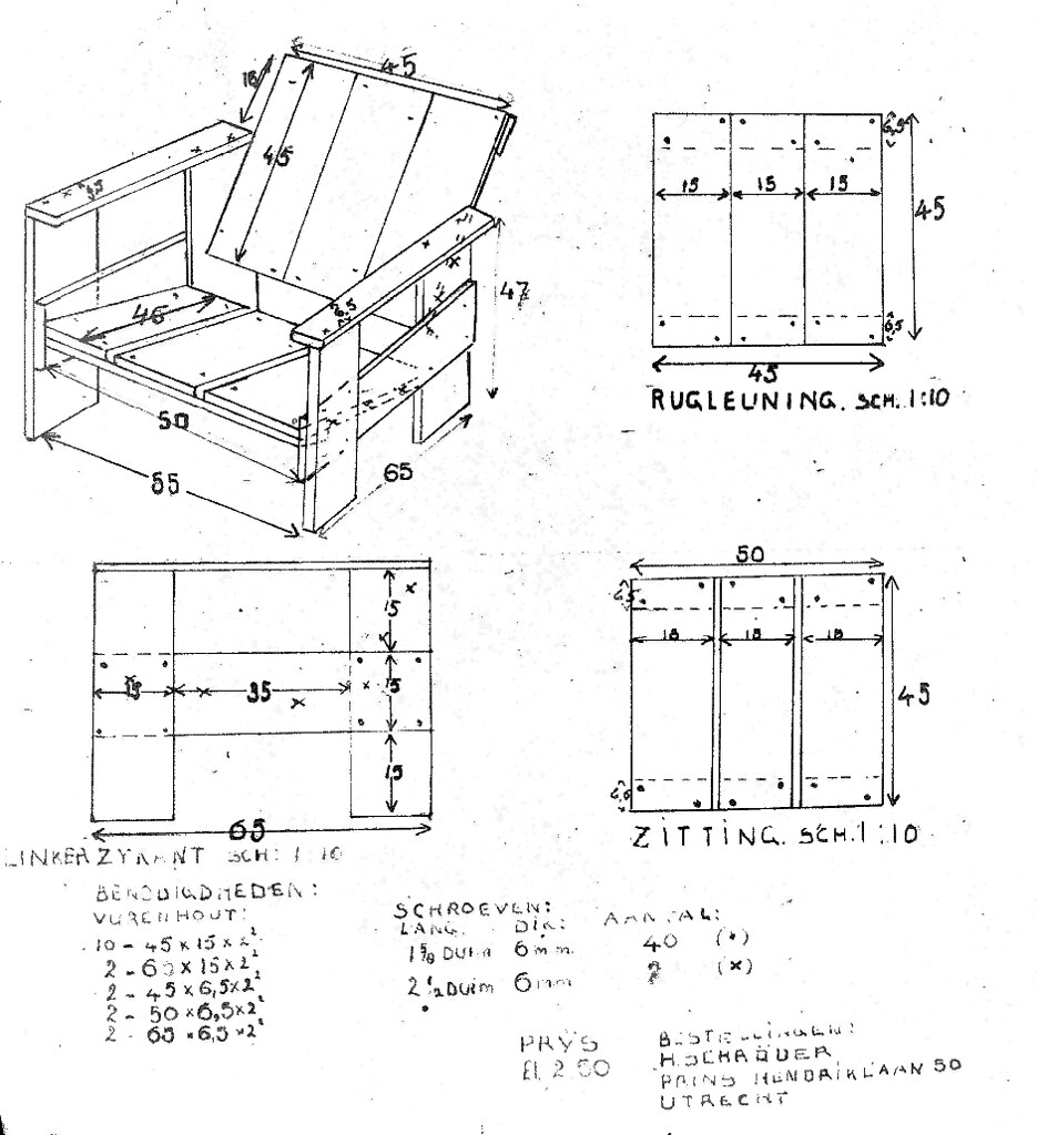 Gerrit Rietveld Crate Chair Plans Plus Iso | Uncleverly ...