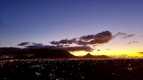 sunset clouds lights evening tablemountain capeofstorms capetownsouthafrica dreamcatcherphotos