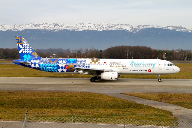 Turkish Airlines (Discover the Potential Livery). TC-JRG. Airbus A321-231. TK1918.