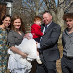 The Sweeneys and godparents