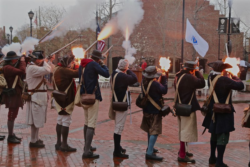 Musket Salute ~ The Salem Muster 2016