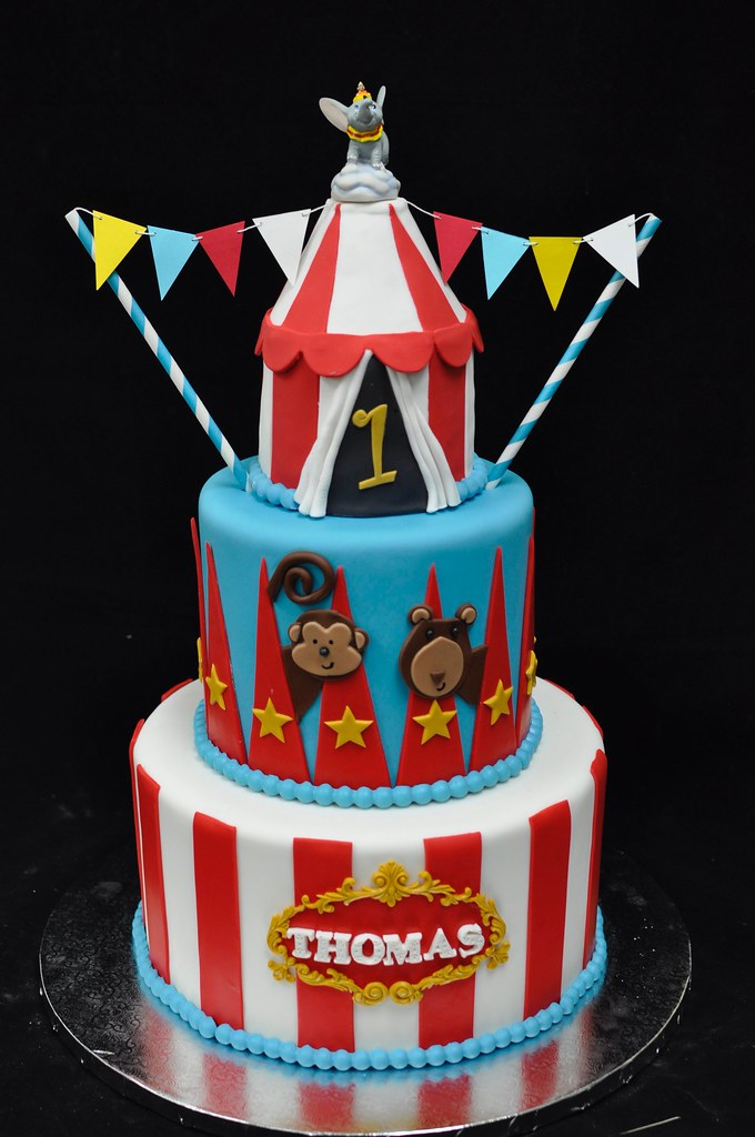 Prime Circus Birthday Cake A Photo On Flickriver Personalised Birthday Cards Veneteletsinfo