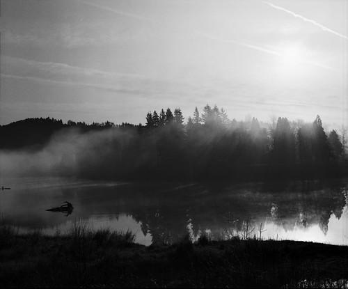 Misty sunrise   by Jonathan Harel