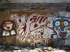 Graffiti on an Abandoned Building in Santiago de Chile