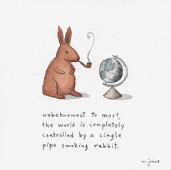 the world is controlled by a rabbit   by Marc Johns