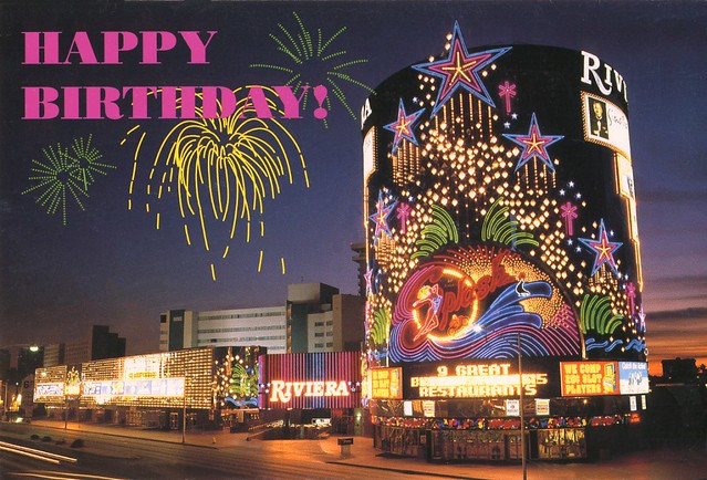 1999 Birthday Card From The Riviera