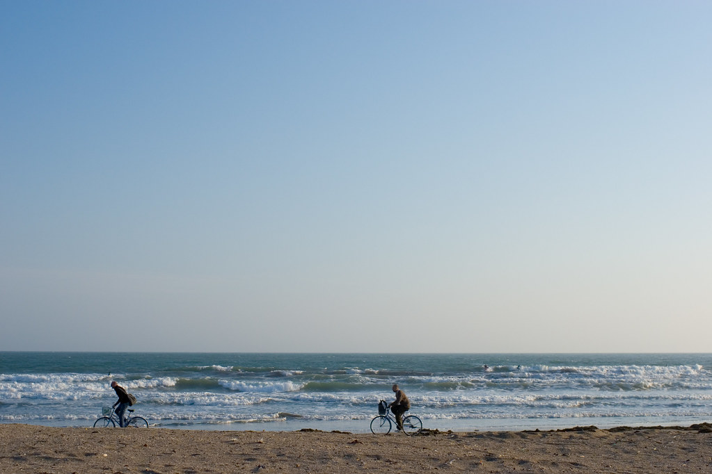 Sea and bicycles