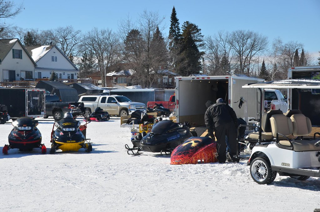 Snowmobile racing and show on Houghton Lake, Michigan   Flickr