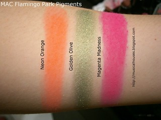 MAC Flamingo Park Swatches Pigments | by musicalhouses