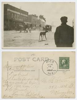 [Scene on Main Street, Hico, Texas]