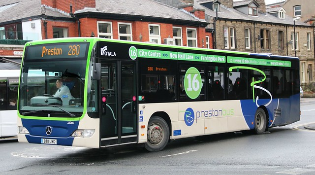 Rotala Preston Bus 33002 BT11UWG in Clitheroe with a Skipton - Preston Ribble Valley service.
