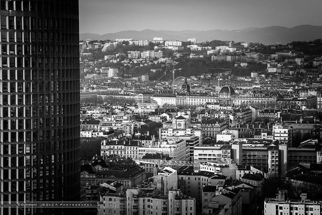 Hotel Dieu and a part of La Part Dieu Building, Lyon, France