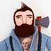 Lumberjack with wild hair