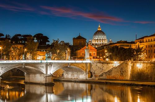 bridge blue italy vatican rome roma saint architecture cityscape sint hour bluehour brug pieter pietro vaticaan saintpeter stpieter 2013 ooijen