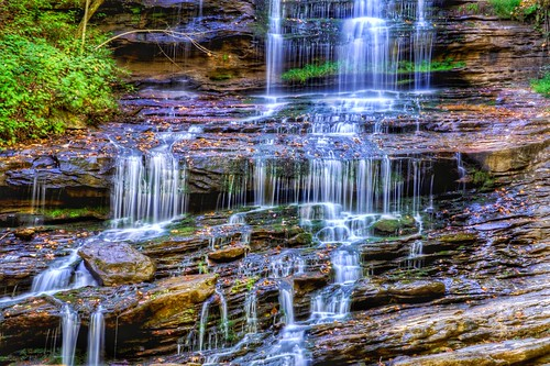 abstract waterfalls nc northcarolina