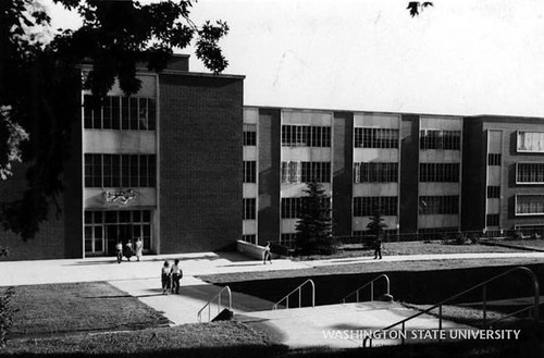 It's #ThrowbackThursday! Here's an undated photo of the north side of Todd Hall, as seen from where the current-day Glenn Terrell Mall is located. Image courtesy of @wsulibrariespullman archives. #GoCougs #TBT