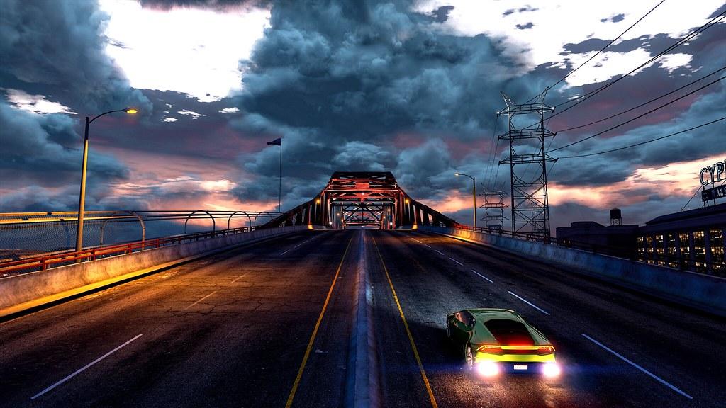 Elysian Fields Freeway Bridge   Hellspawn92 ENB - www gta5-m